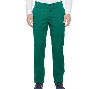 Emerald green men's cotton pants